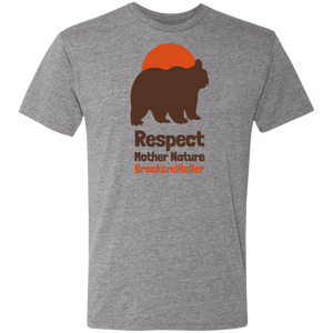 respect mother nature brook and holler grey tee