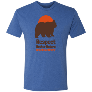 respect mother nature brook and holler navy tee