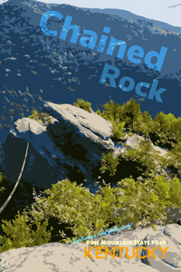 Chained Rock Pine Mountain State Park Hiking Trail Kentucky Poster