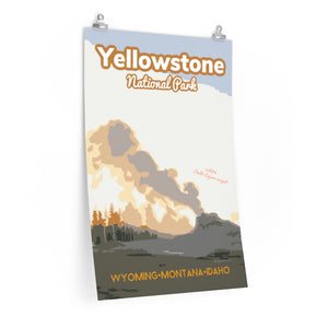 Yellowstone National Park Castle Geyser Poster