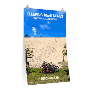 Sleeping Bear Dunes National Lakeshore Dune Climb Poster