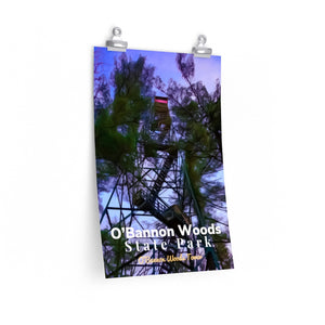 O'Bannon Woods State Park Fire Tower Poster