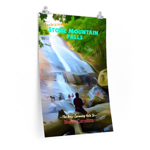 Stone Mountain State Park North Carolina Poster