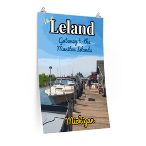 Leland Michigan Ferry Poster