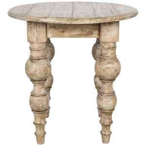 Bordeaux Round End Table 24""