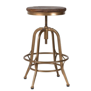Peralta Counter Stool Brass