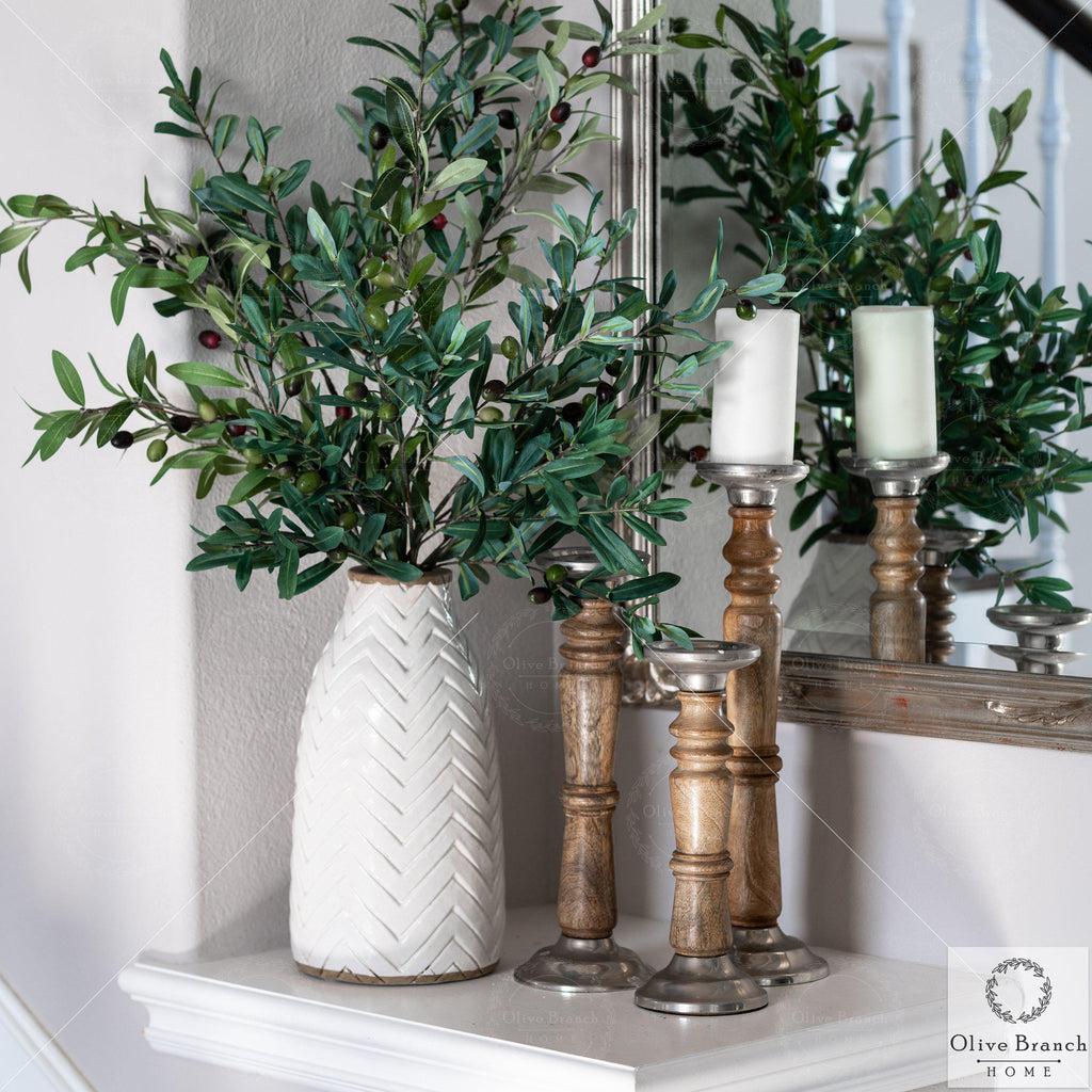 Faux Olive Stems