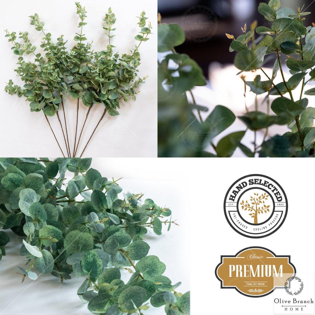"36"" Tall Artificial Eucalyptus Stems-Faux Stems-OliveBranchHome"