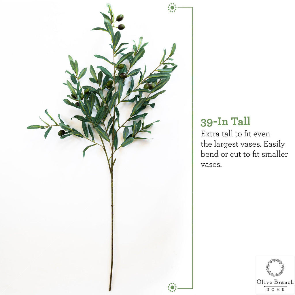 Tall Large Fake Olive Branch