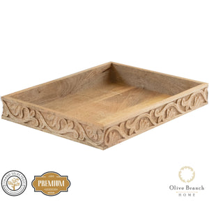 Natural Wood Decorative Tray