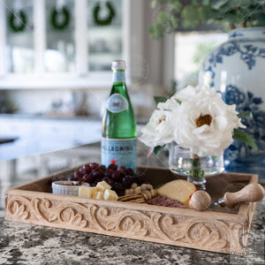 wooden appetizer tray
