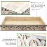 wood rustic decor tray