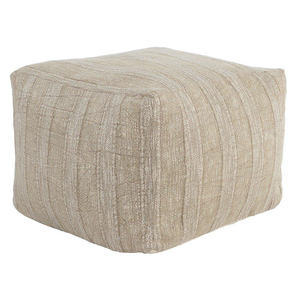 Heirloom Linen Desert Pouf 18x18x14