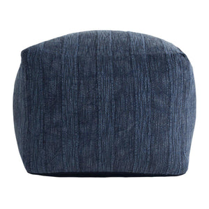 Heirloom Linen Indigo Pouf 18x18x14