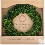 20 inch preserved boxwood wreath