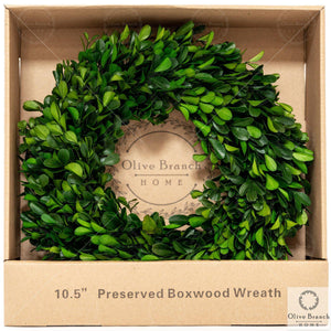 10 inch preserved boxwood wreath