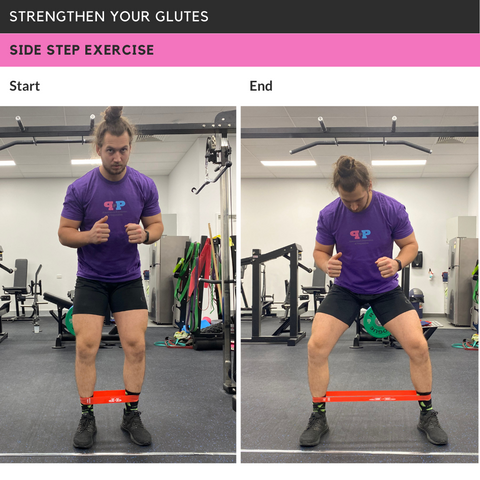 Strengthen Glutes Side Step Exercise