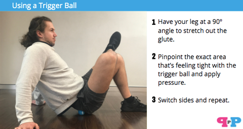 trigger ball tight glute muscle release