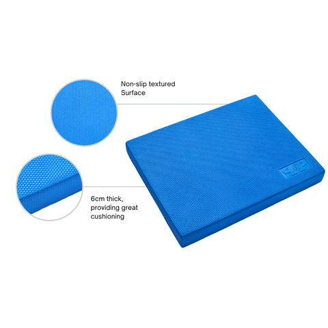 blue balance mat with features and benefits