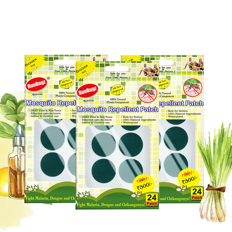 green mosquito repellent patches