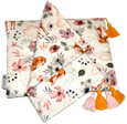 Sateen Light Blanket/Swaddle Set - Forest Animals, 0+m