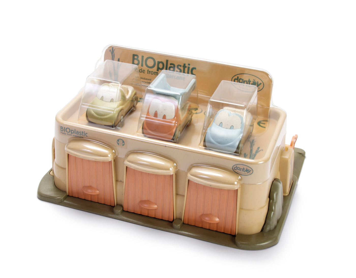 Car Park with 3 Cars Organic Plastic(BioPlastic)