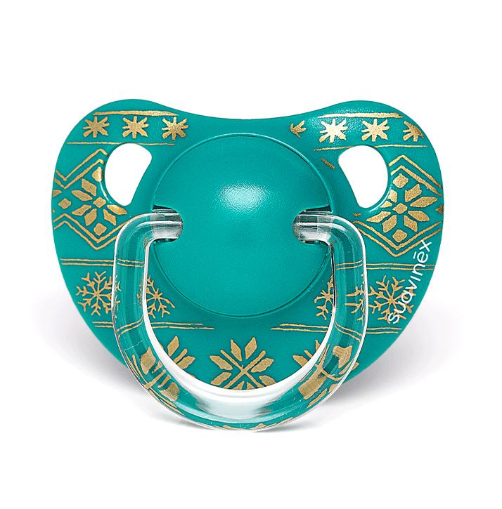 Winter Collection  Anatomical Pacifier Green, 6-18m