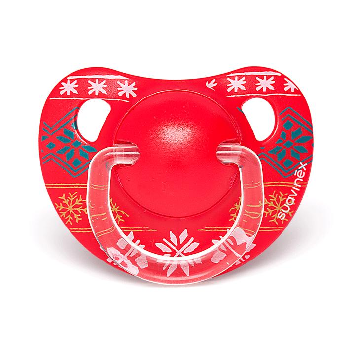 Winter Collection  Anatomical Pacifier Red, 6-18m