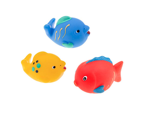 Rubber Fish Toys for Bathing (with no holes), Set of 3