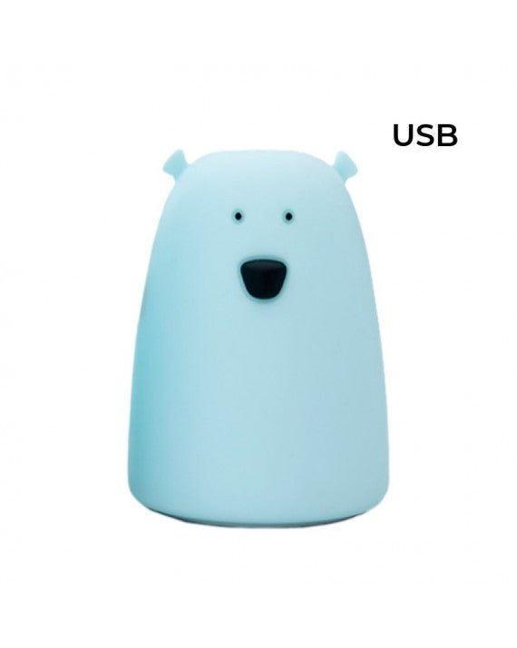 Teddy Bear Silicone Lamp, Blue Big