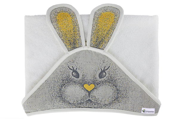 Newborn Towel Bamboo, Bunny, Yellow