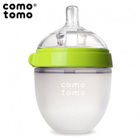 Comotomo Natural Silicone Baby Bottle, Green, 150 ml
