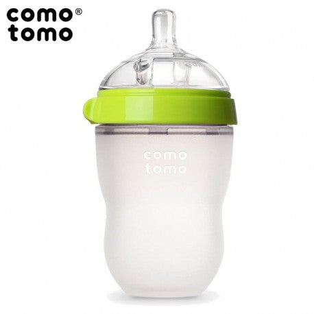 Comotomo Natural Silicone Baby Bottle, Green, 250 ml