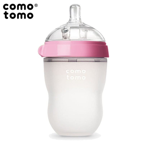 Comotomo Natural Silicone Baby Bottle, Pink, 250 ml