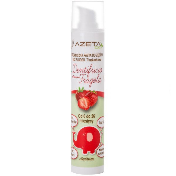 Organic Baby Toothpaste Strawberry 0-36 Months