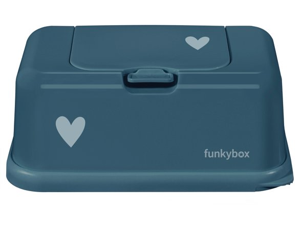Baby Wipes/Tissue Dispenser, Petrol Little Heart