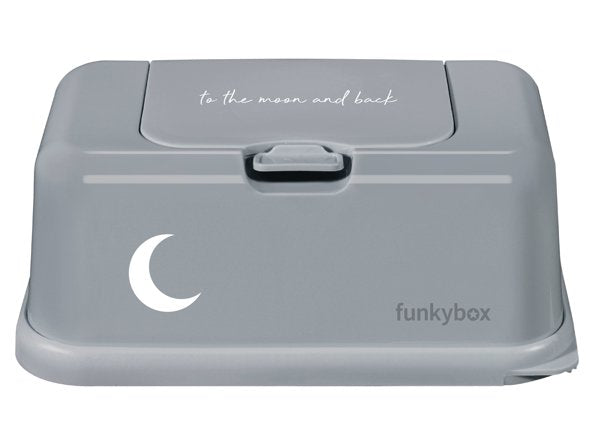 Baby Wipes/Tissue Dispenser, Grey To The Moon