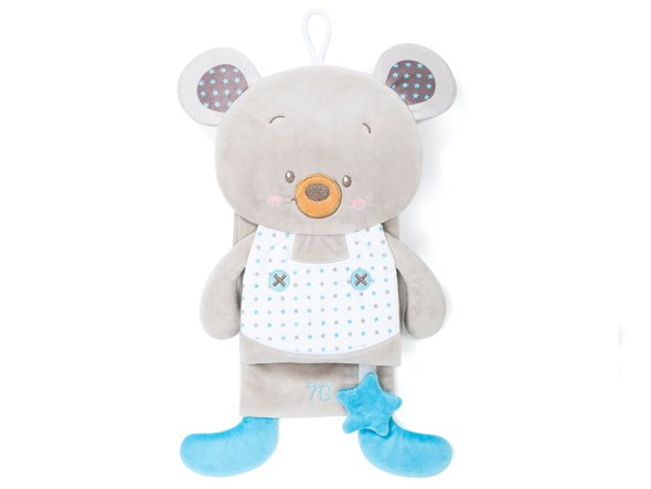 Toy Wall Height Measure, Plush Teddy Bear, Blue