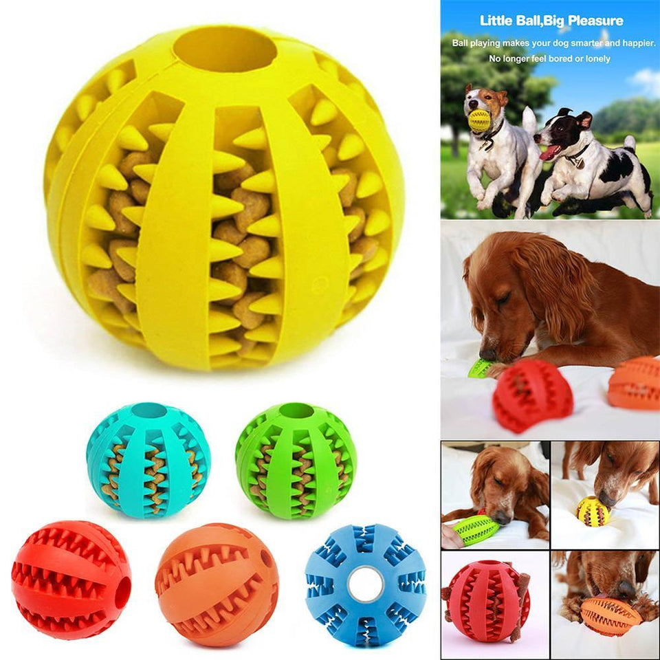 Dog Treat Ball Toy for Teeth Cleaning and Endless Playtime - Petacco