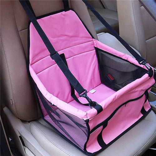 Waterproof Foldable Car Seat Bag For Pets pink