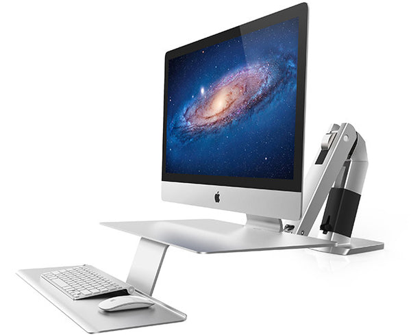 Apple iMac on Ergotron's integrated WorkFit-A workstation