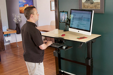 WorkFit-D Sit-Stand Desk - Standing