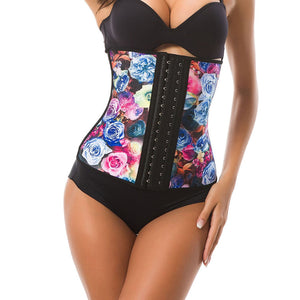 Waist trainer roses printed corsets