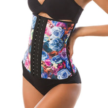 Load image into Gallery viewer, Waist trainer roses printed corsets