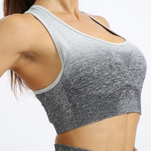 Load image into Gallery viewer, Gradient Seamless Mesh Workout Clothes