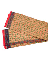 Pure Cotton Green Leaves Print Kotadoria Saree