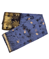 Blue Golden Work Zari Border KotaDoria Weaving Saree With Blouse