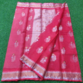 Pink Kota Doria Pure Silk Weaving Saree