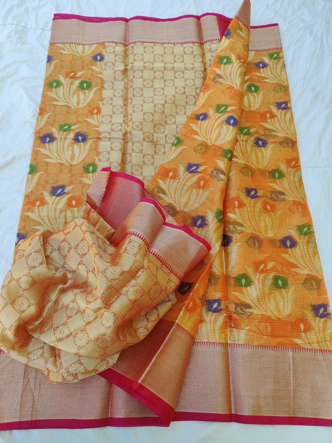KOTA DORIA FABRIC COTTON  WEAVING SAREE