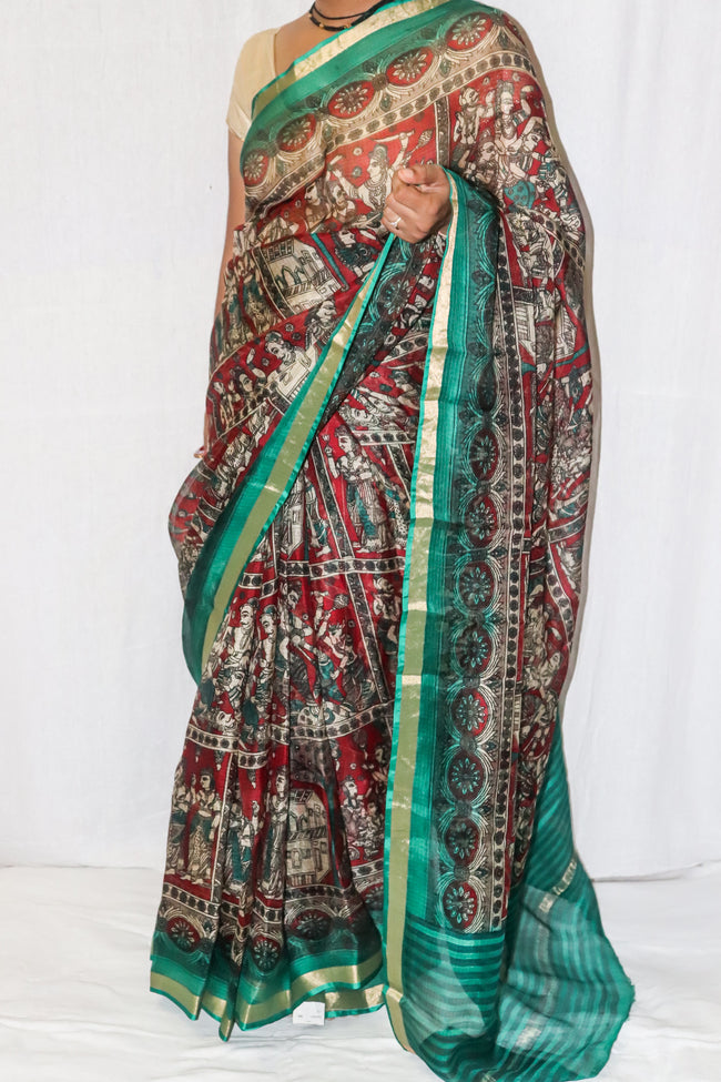 Kotadoria Silk Saree With Beautiful Print